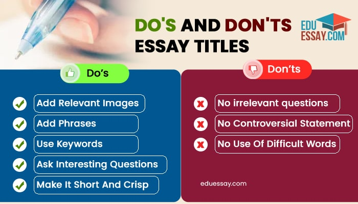 Essay Title Writing Tips
