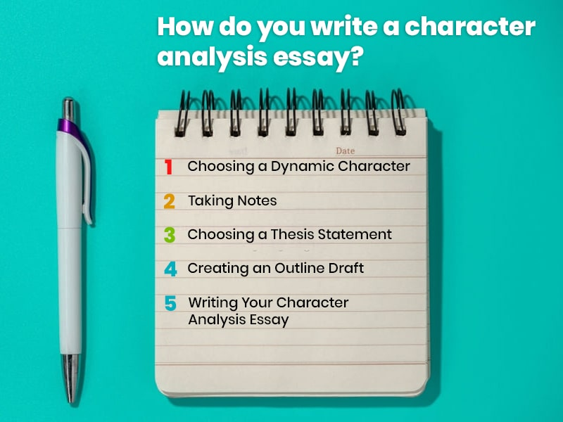 How do you write a character analysis essay?