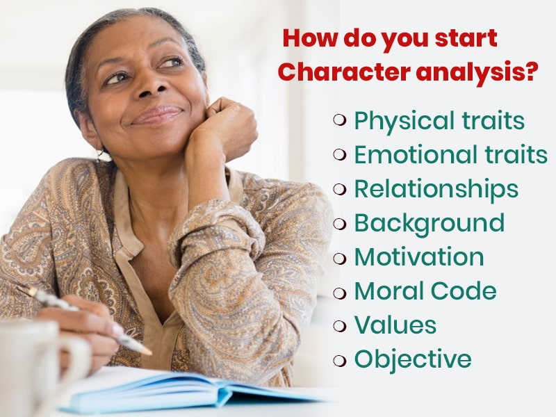 How do you start Character analysis?