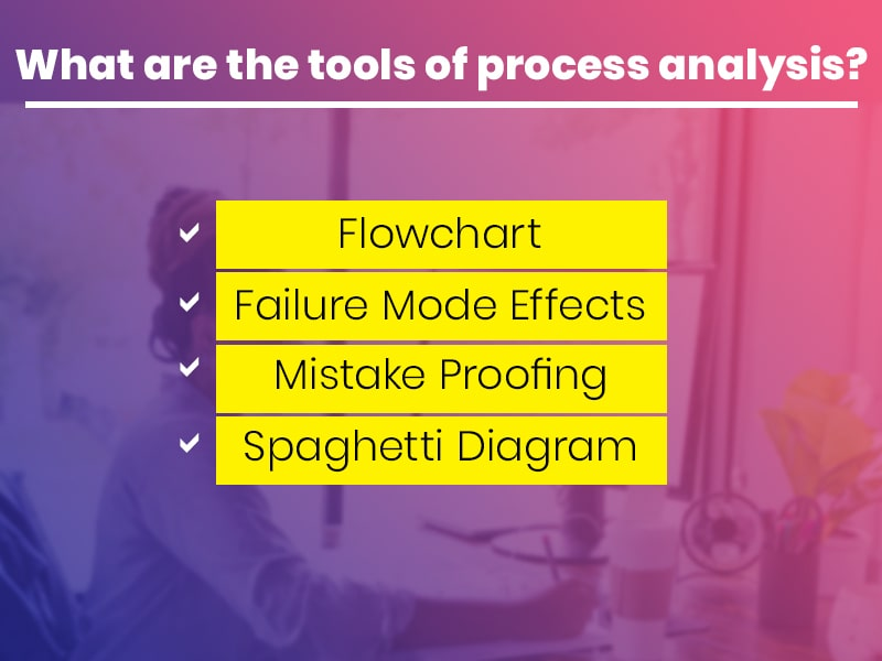 What are the tools of process analysis?