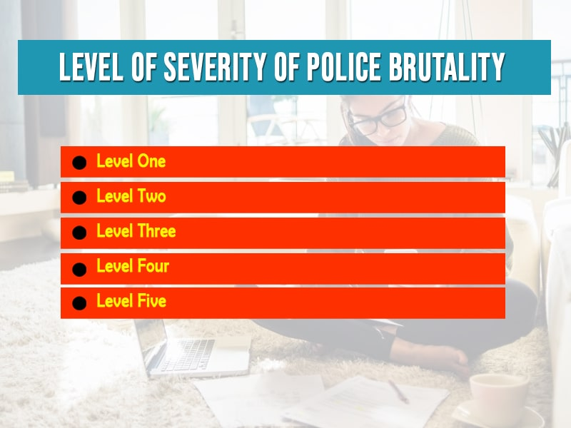 level of severity of police brutality