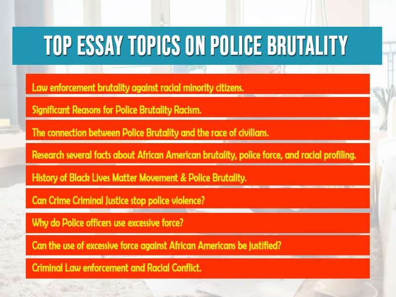 Top Essay Topics on Police Brutality