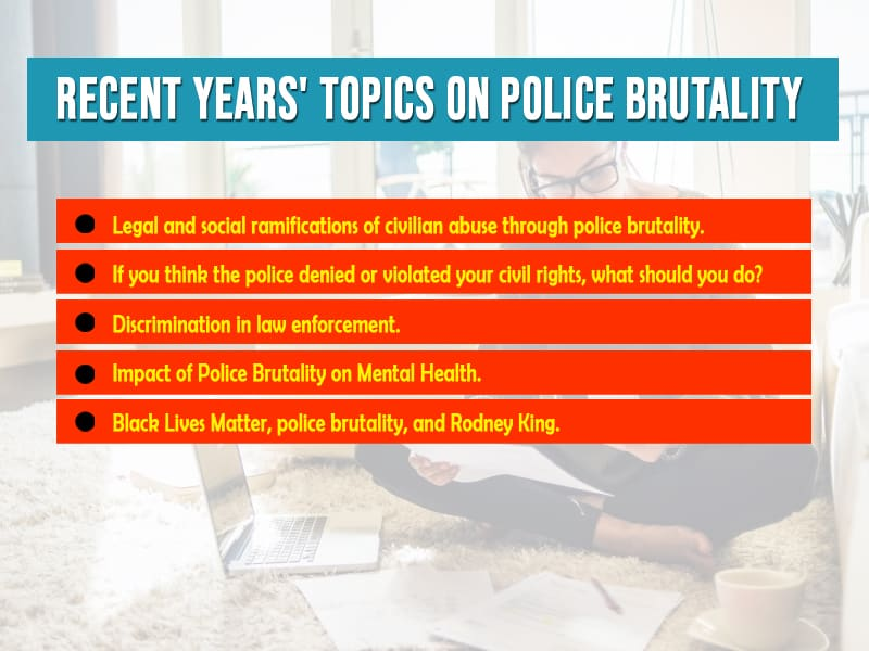 Recent years' topics on police brutality