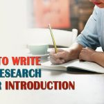 How To Write The Research Paper Introduction